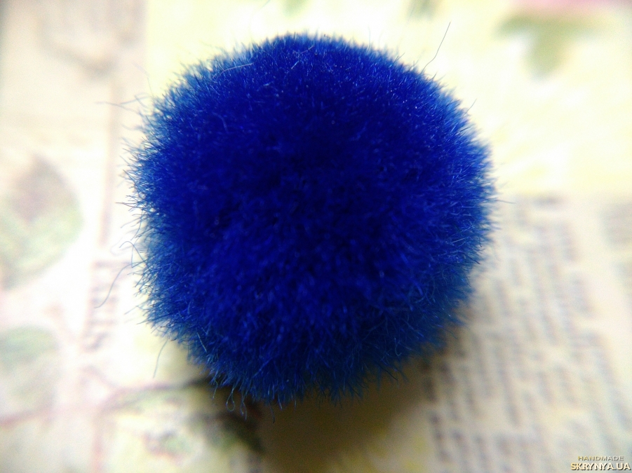 pictured here Textile Beads Royal Blue 10 pcs.