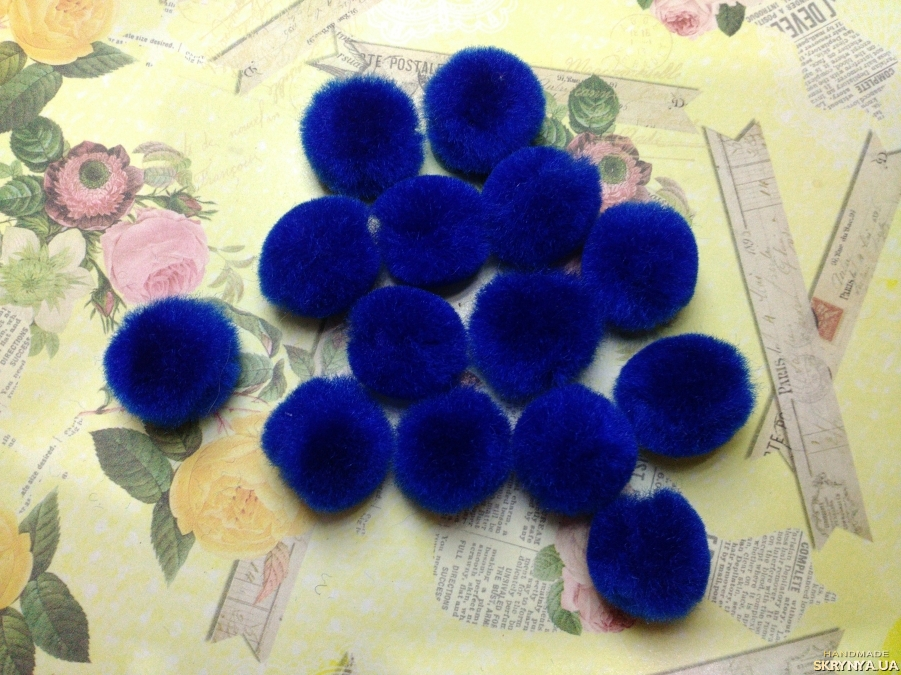 pictured here Textile Beads Royal Blue