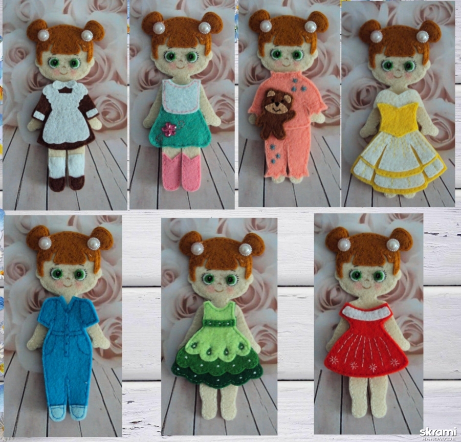 тут изображено Кукла с одеждой