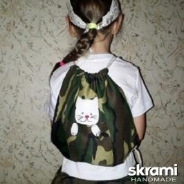 Комплект: платье, бандана, рюкзачок