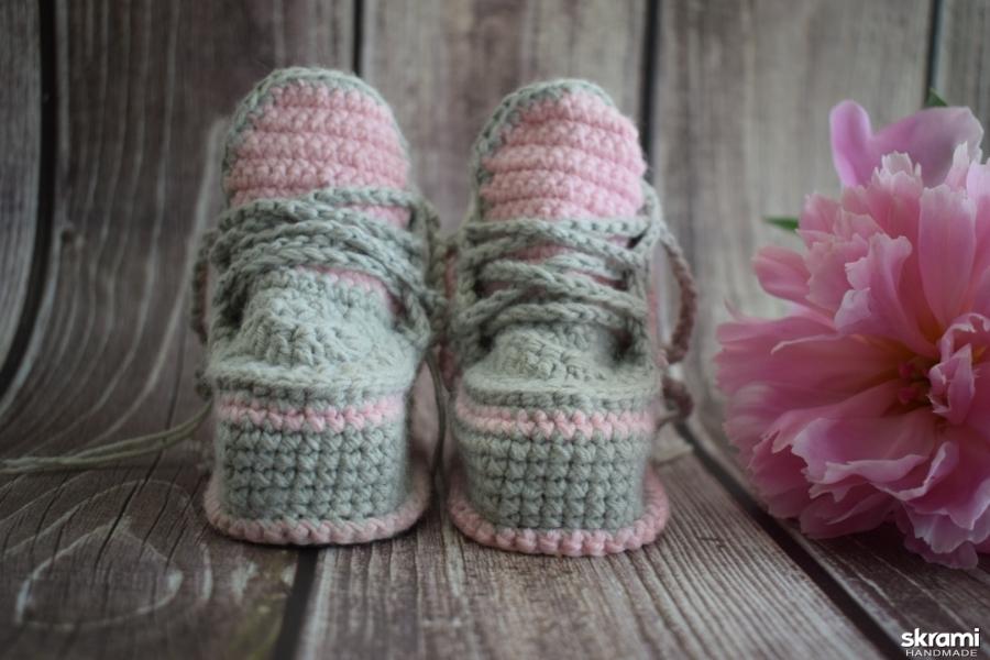 Пинетки кеды для новорождённых
