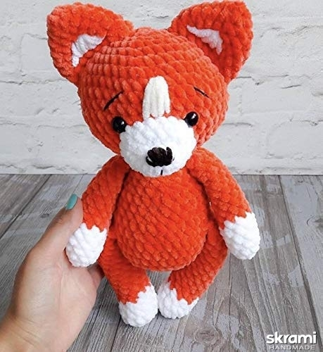 pictured here Handmade croched Fox
