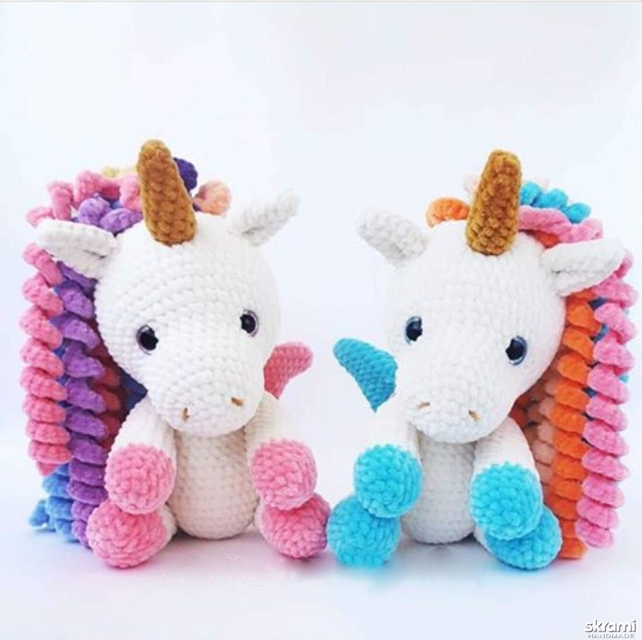 pictured here Crocheted unicorn
