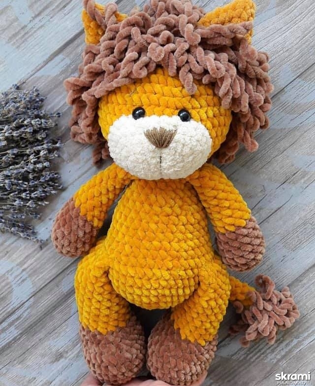 pictured here Crocheted Lion