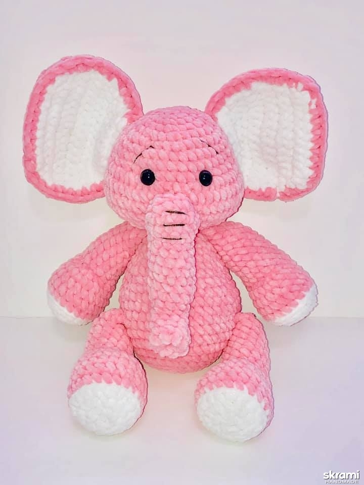 pictured here Crocheted elephant