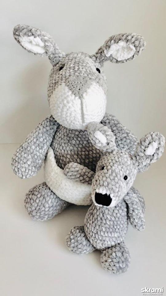 pictured here Crocheted kangaroo