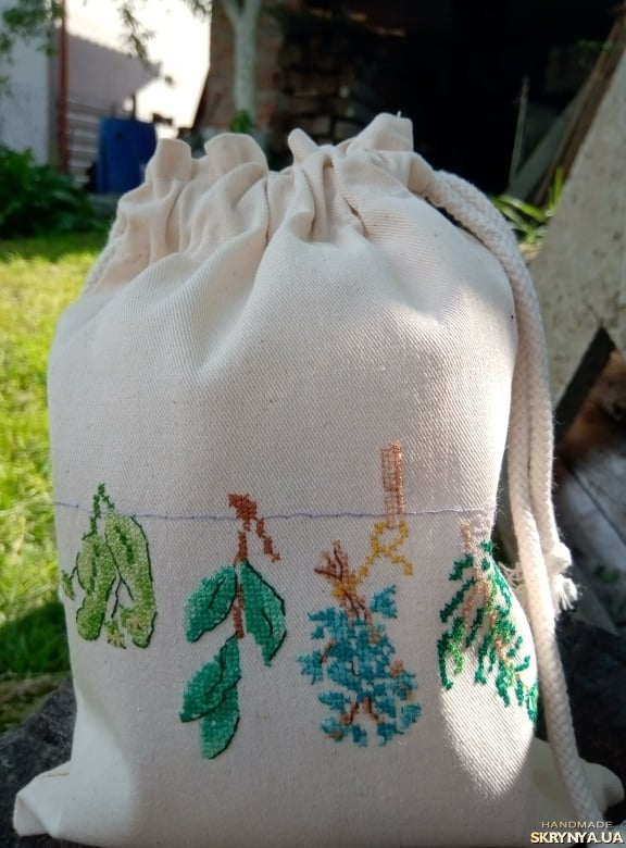 pictured here  Bag for herbs, spices