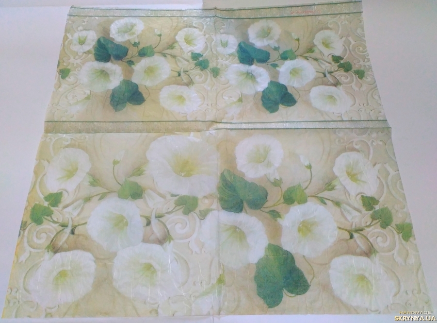 pictured here Decoupage card on rice paper Stamperia №6