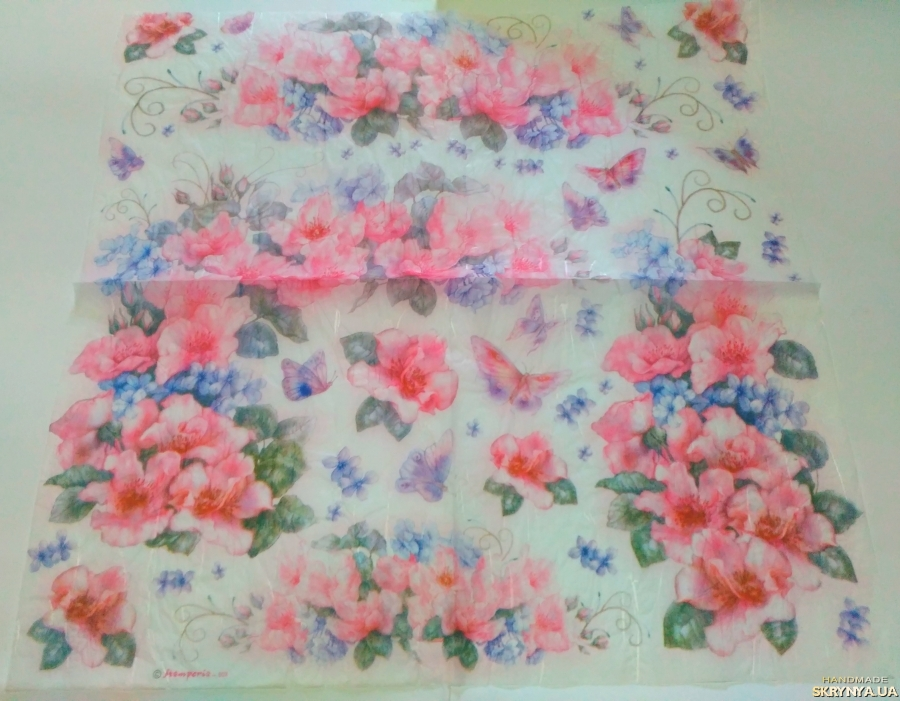 pictured here Decoupage card on rice paper Stamperia №9