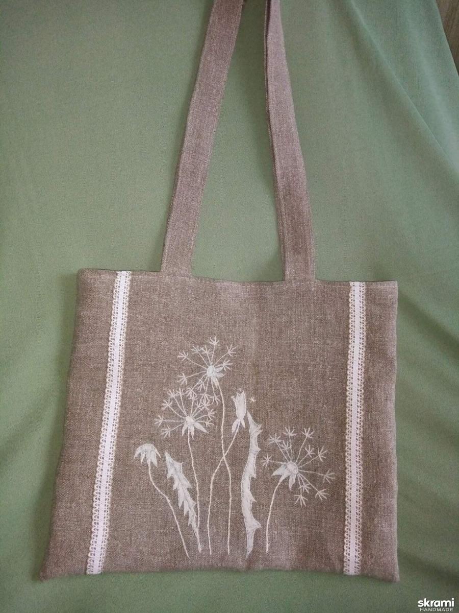 тут изображено Льняная сумка ′Одуванчик′.