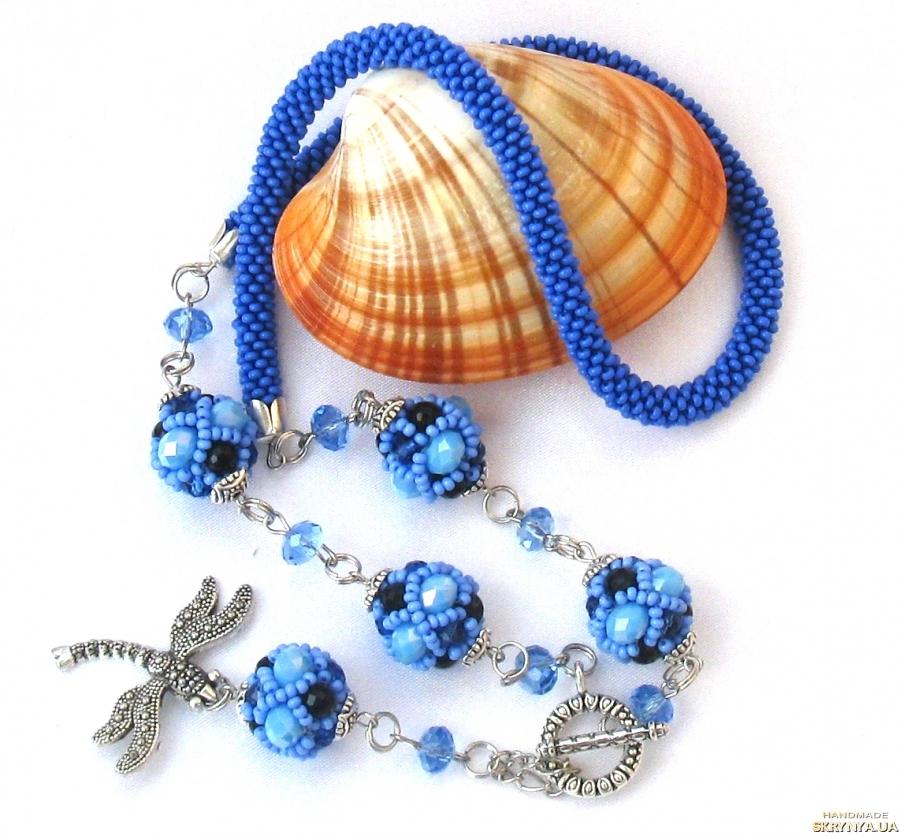 pictured here Necklace ′Celestial Symphony′. Decoration. Sautoir