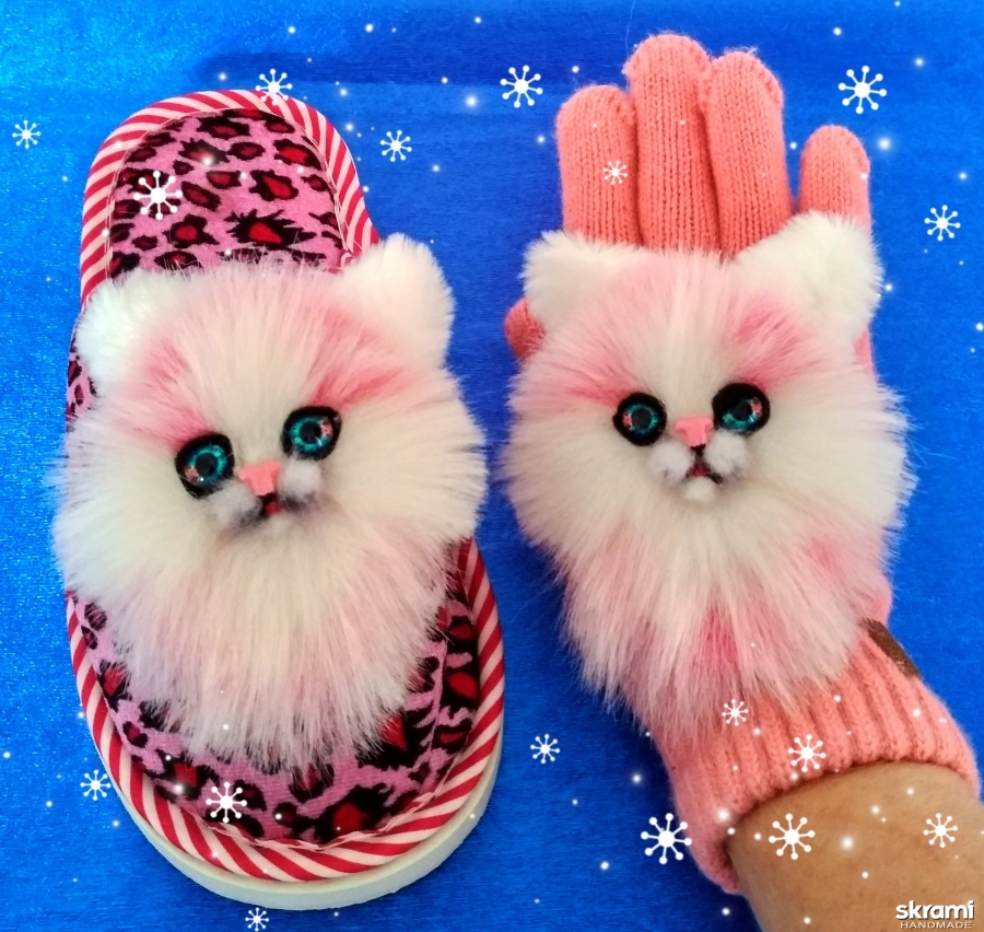 тут изображено Нашивки Розовые кошечки