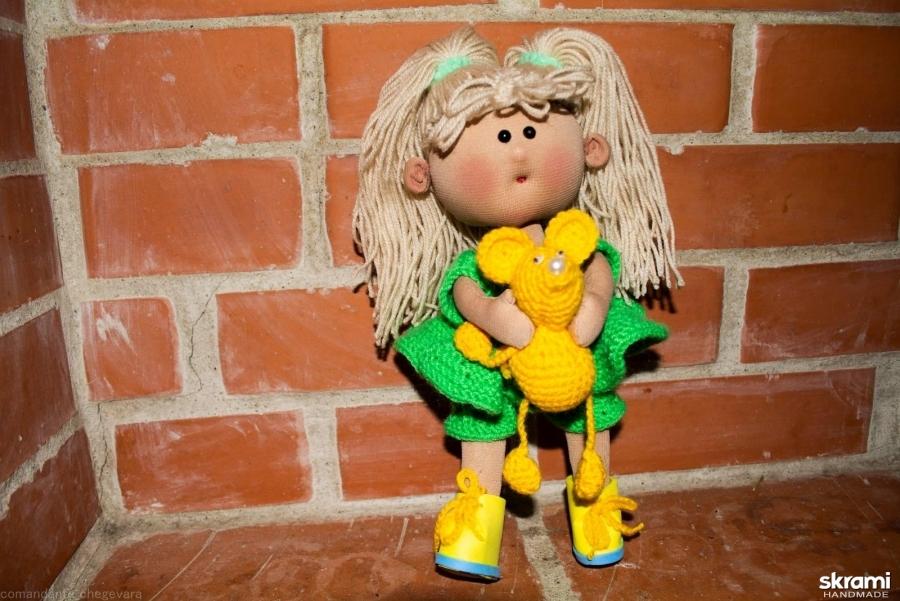 тут изображено Кукла текстильная интерьерная ручной работы