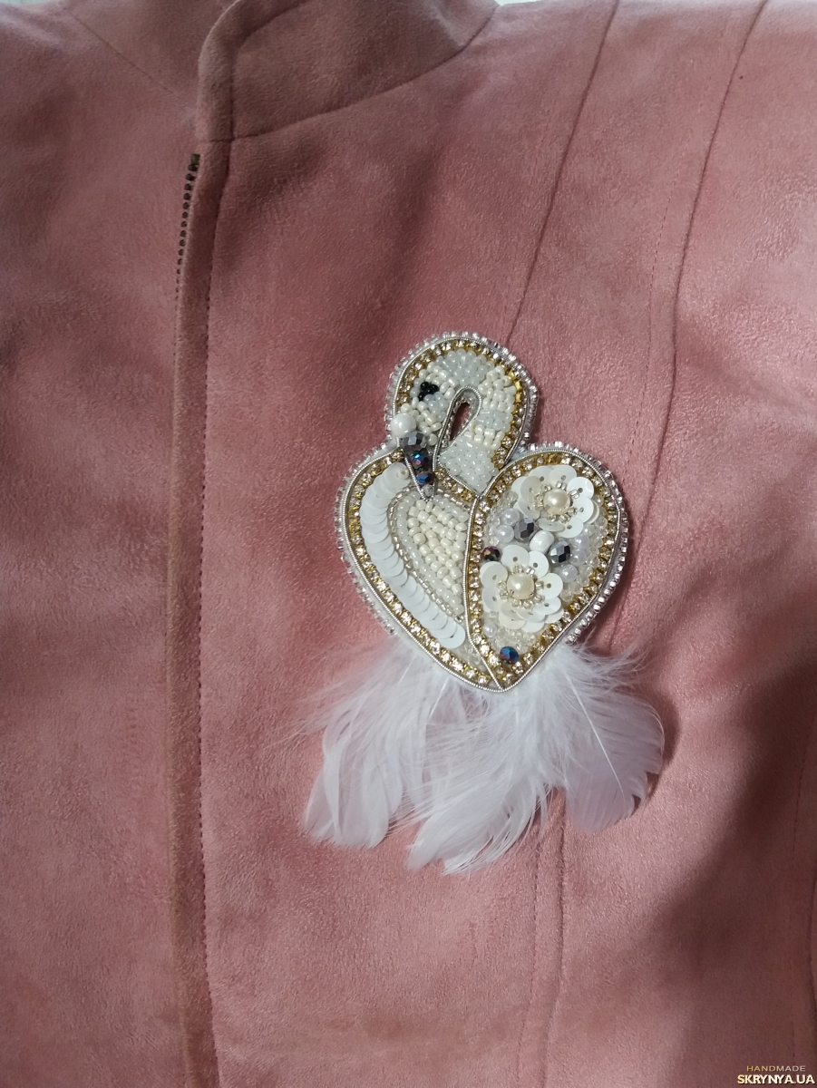pictured here Brooch Flamingo