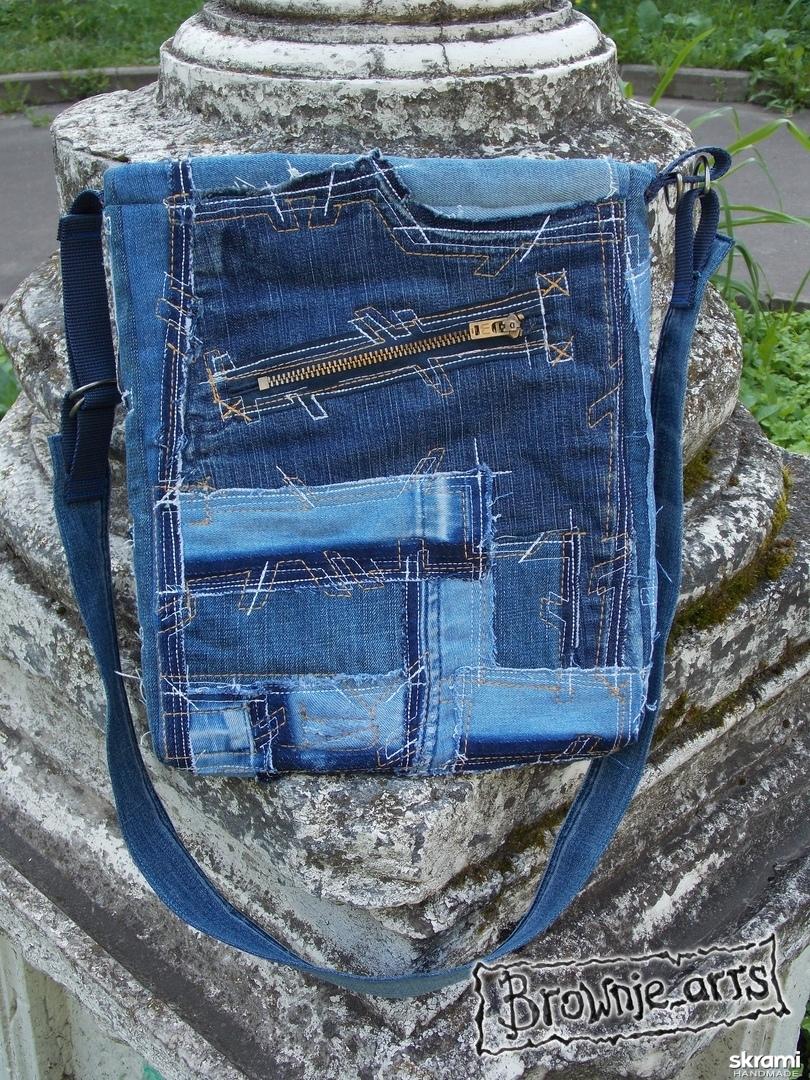 тут изображено Сумка джинсовая ′Старшая подружка′