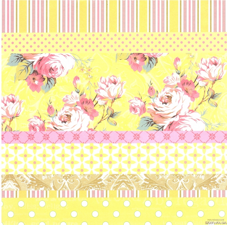 pictured here Scrapbooking paper square 30.5 cm No. 1