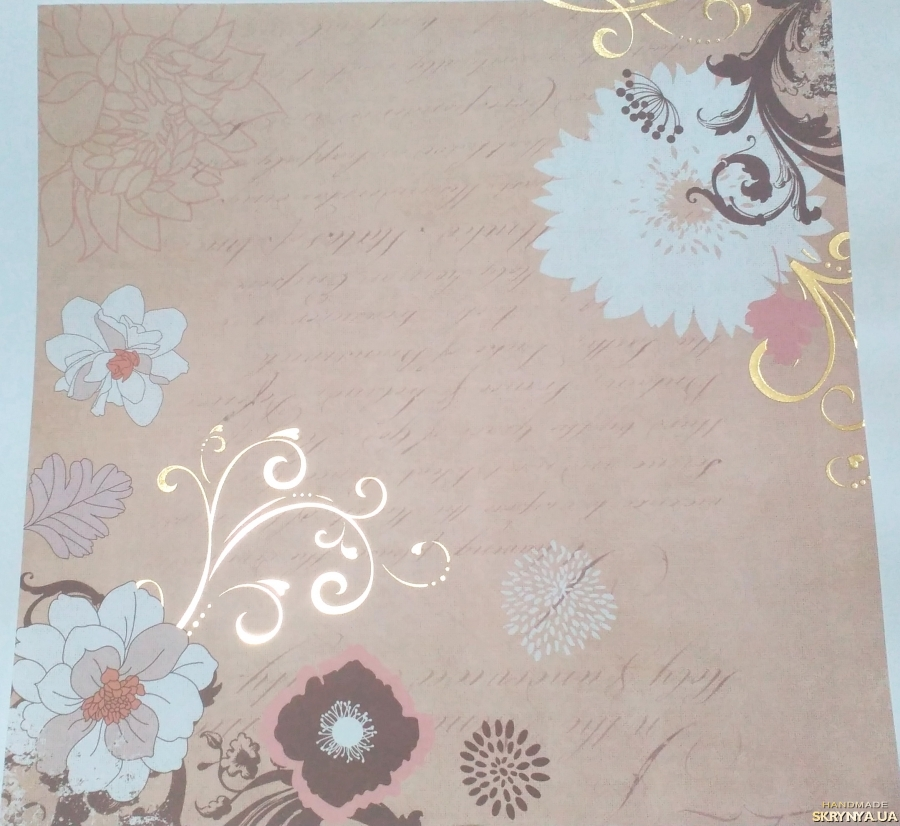 pictured here Scrapbooking paper square 30.5 cm No. 6