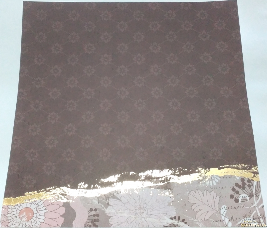pictured here Scrapbooking paper square 30.5 cm No. 7