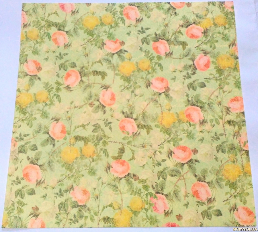 pictured here Scrapbooking paper square 30.5 cm No. 13