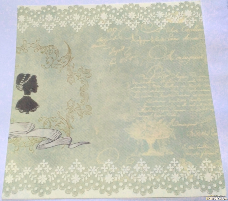 pictured here Scrapbooking paper square 30.5 cm No. 14