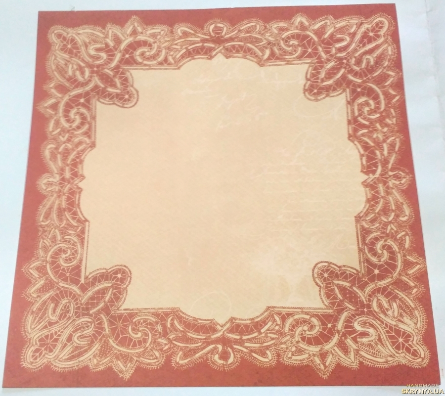 pictured here Scrapbooking paper square 30.5 cm No. 15