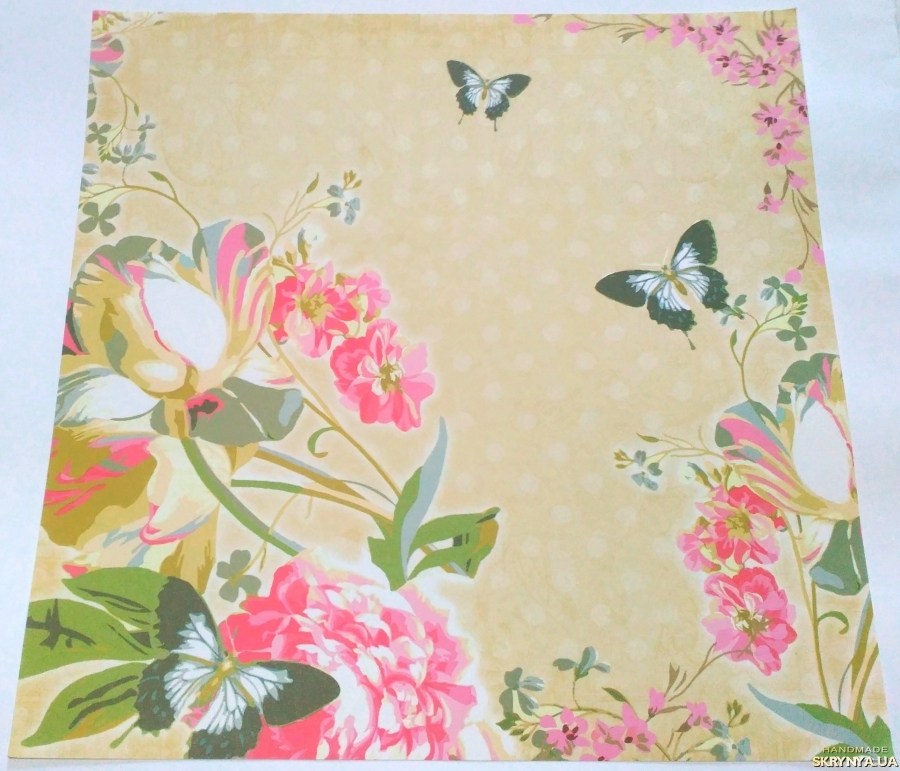pictured here Scrapbooking paper square 30.5 cm No. 22