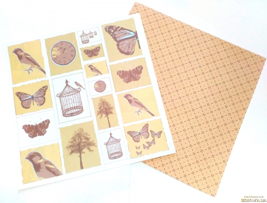 pictured here Scrapbooking paper square double sided 30.5 cm No. 1