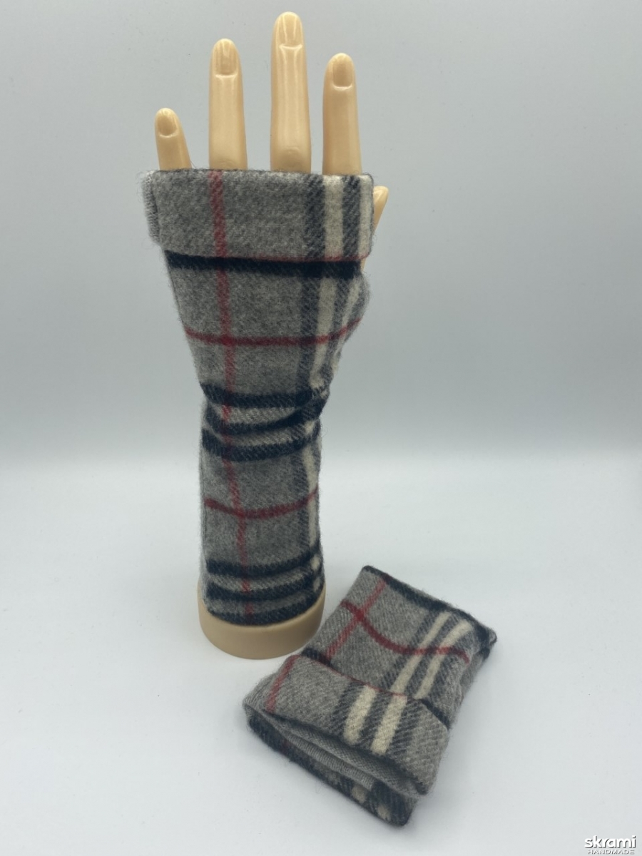 pictured here Designer Burberry Fingerless Gloves