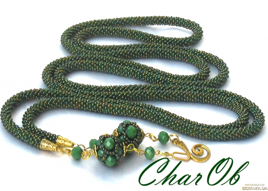 pictured here Lariat ′Green Gold′ Decoration golden-green transformer