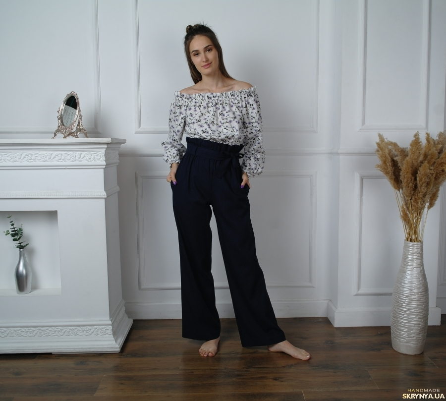 pictured here Women Palazzo pants, wide leg high-waist pants