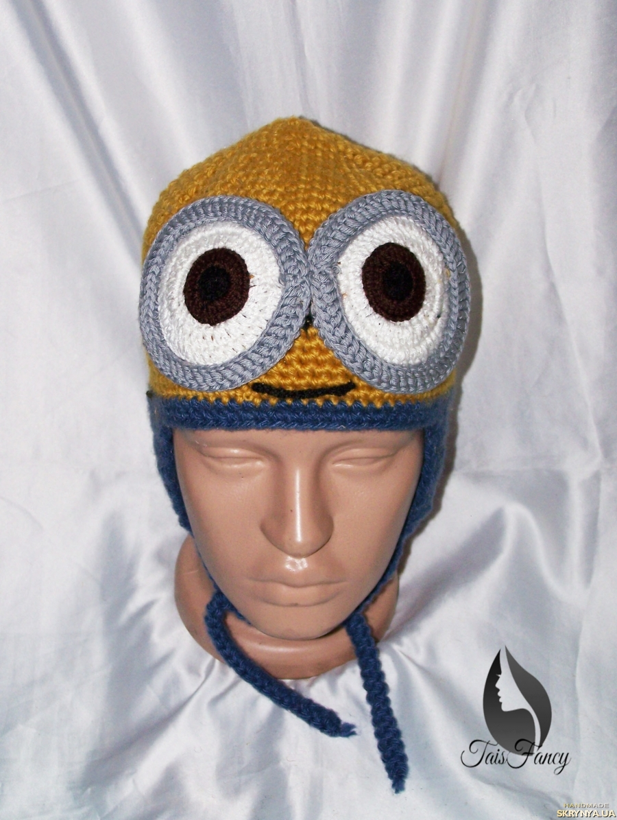 pictured here Winter hat with bubo