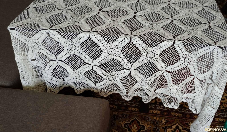 pictured here Linen Tablecloth Nappe de lin