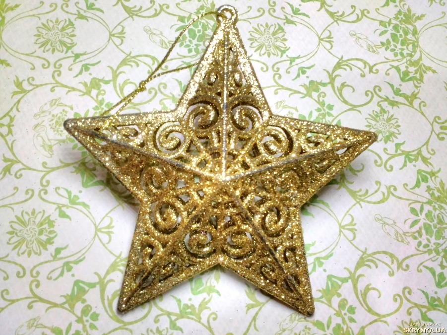 pictured here Christmas decorations figured Star in gold