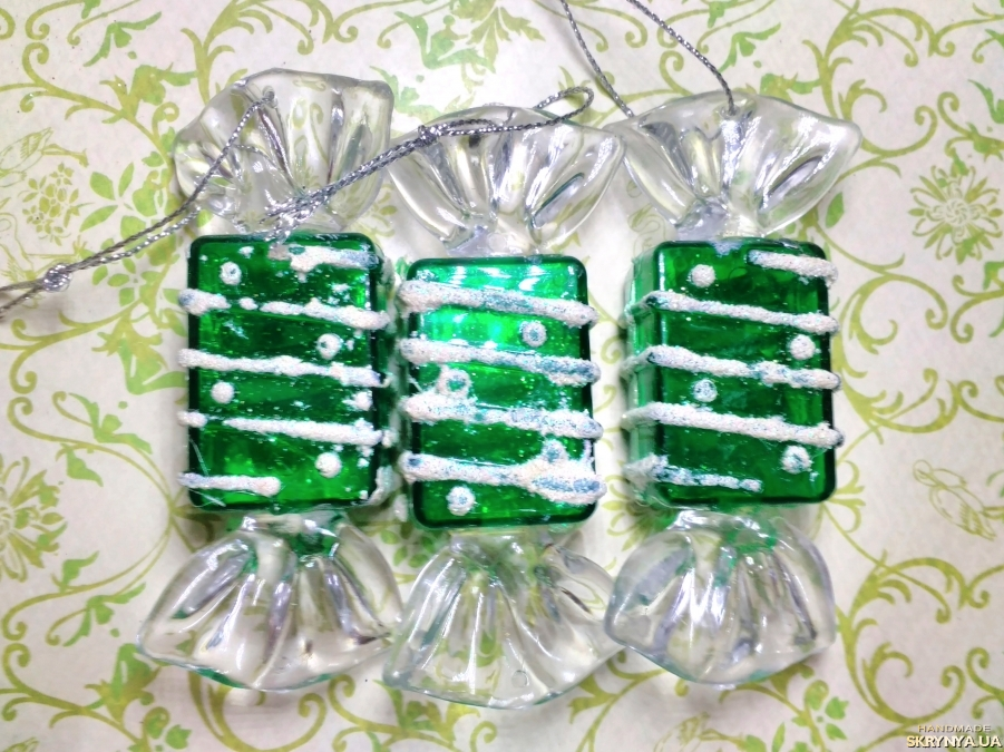 pictured here Christmas decorations figured Green sweets №2