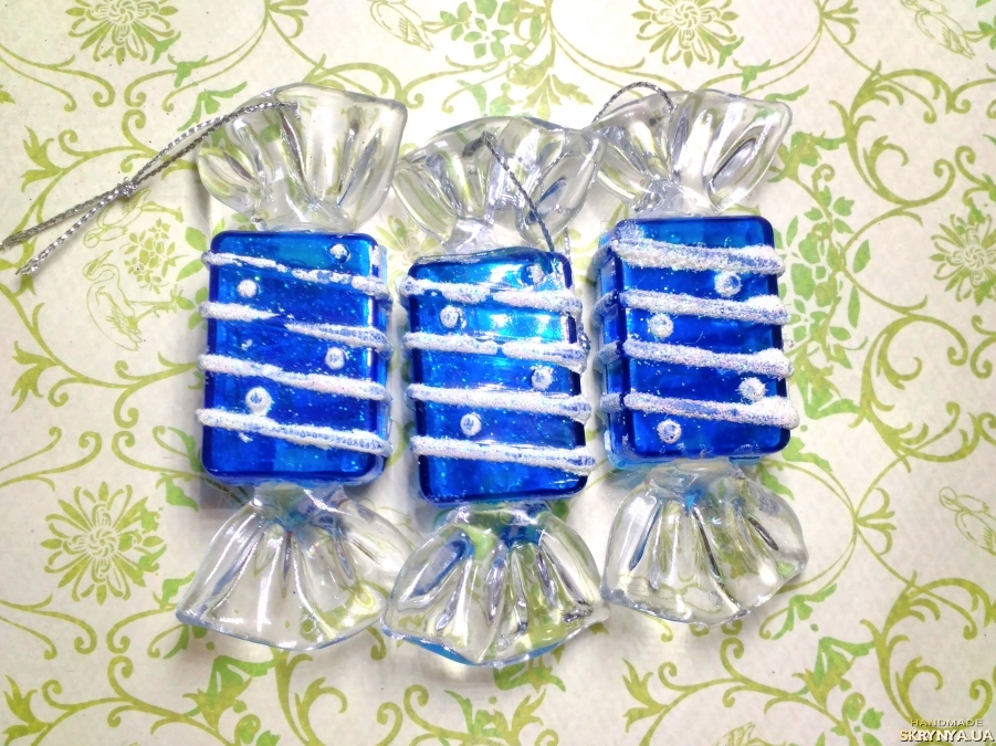 pictured here Christmas decorations figured Blue sweets №2
