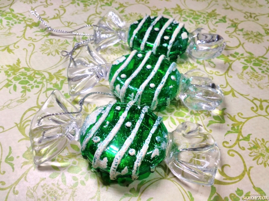 pictured here Christmas decorations figured Green sweets №3