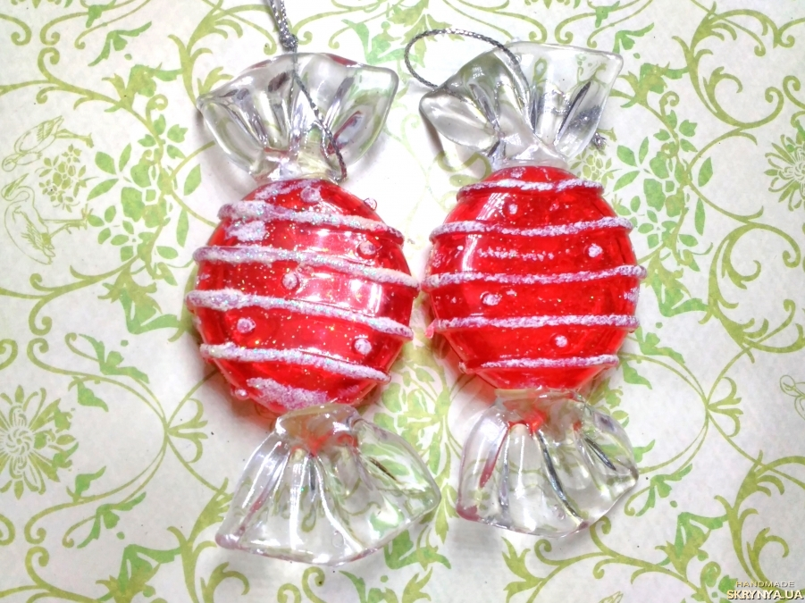 pictured here Christmas decorations figured Red sweets №3