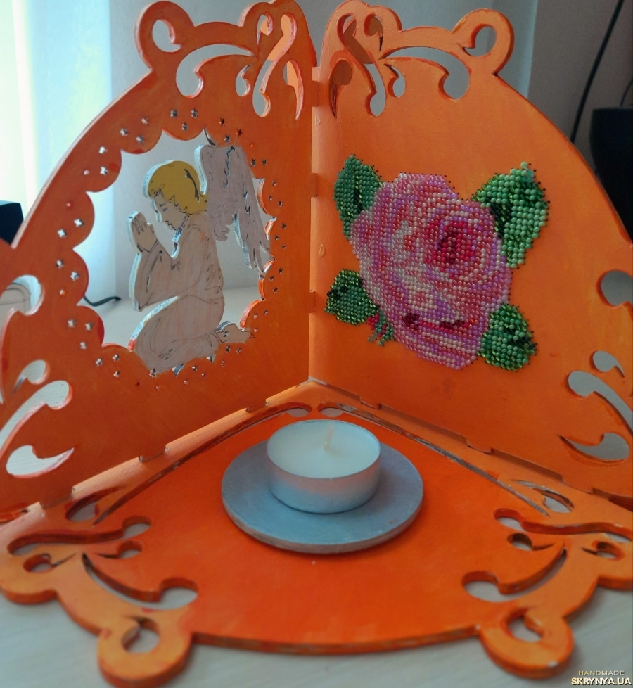 pictured here Candle holder ′Rose′
