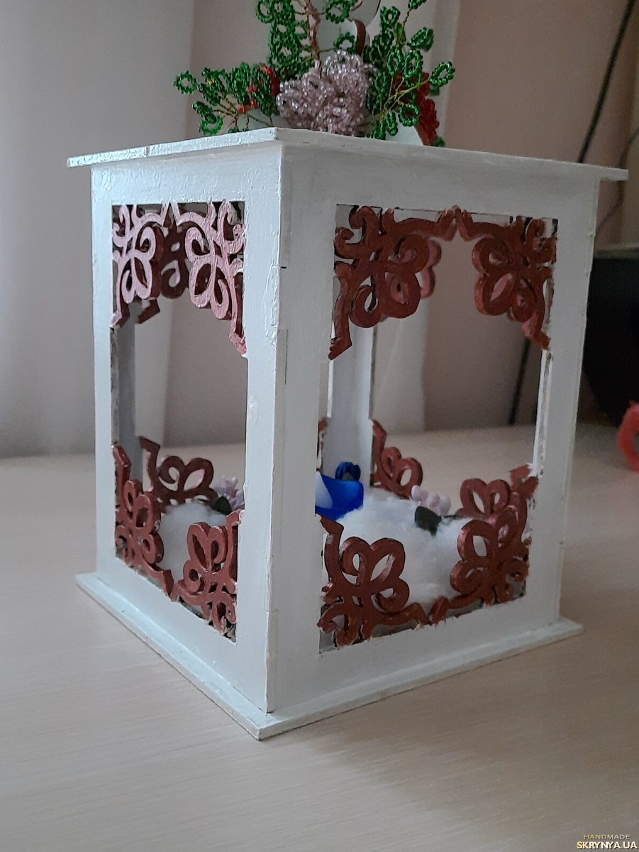 pictured here Decorative lantern and candle holder ′Mistery′