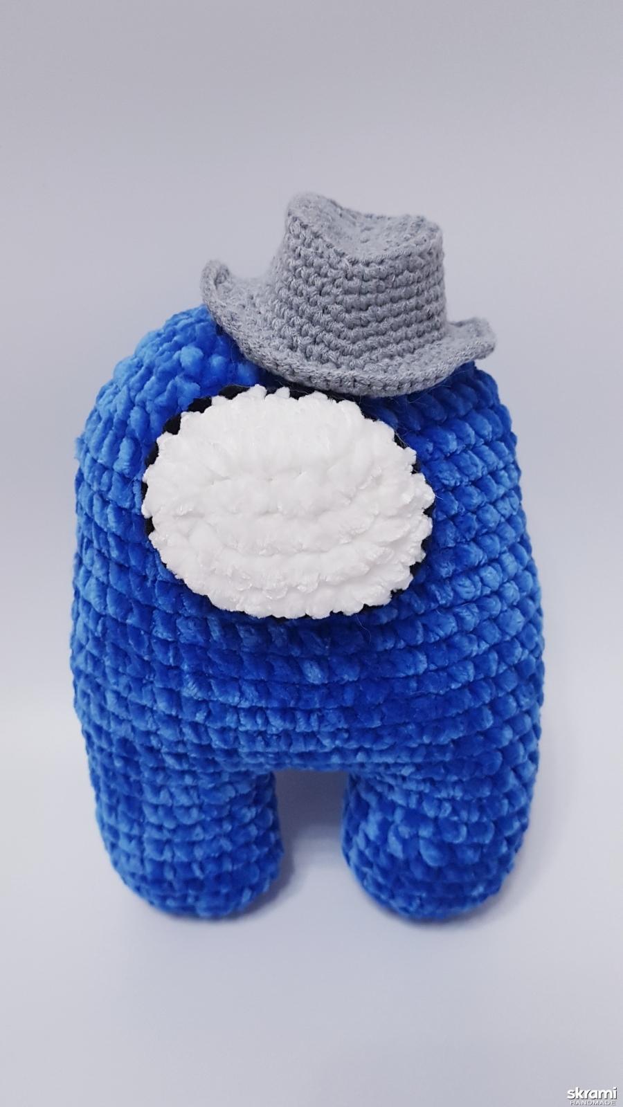 тут изображено Among us toy, амонг ас синяя плюшевая игрушка 22 см
