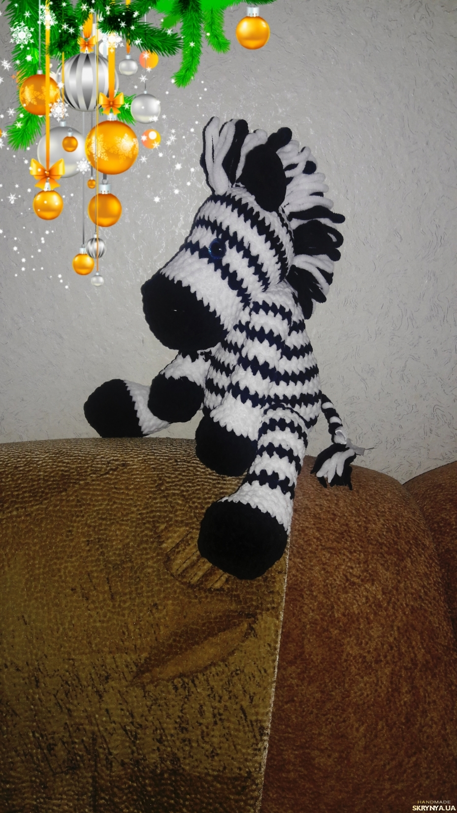 pictured here Large plush zebra.