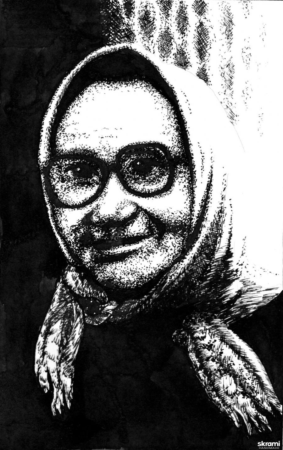 тут изображено Бабка Матрена  Grandma Matryona