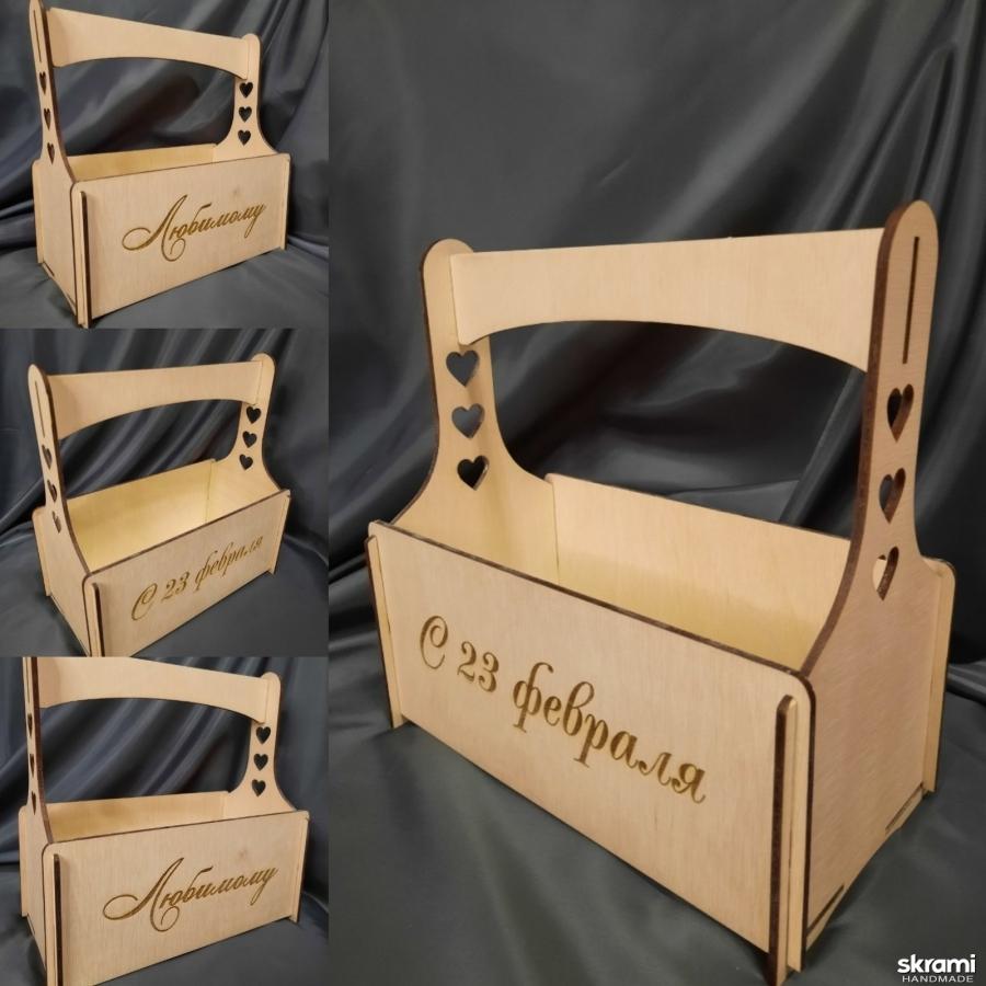 тут изображено Ящик для подарков
