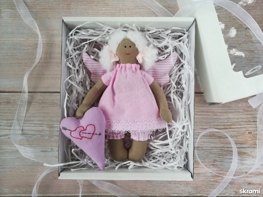 тут изображено Интерьерная кукла Тильда Ангел