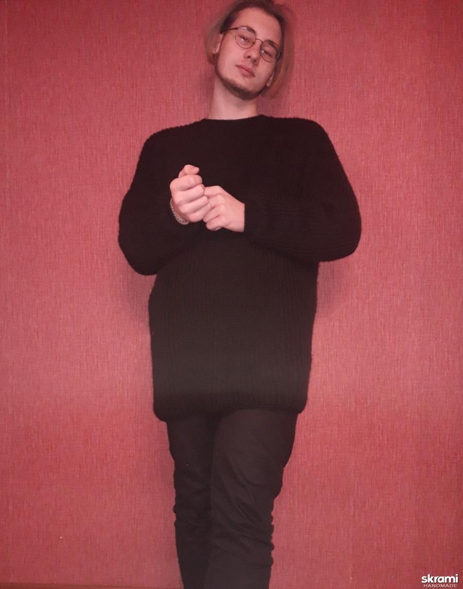 Пуловер оверсайз  для мужчин