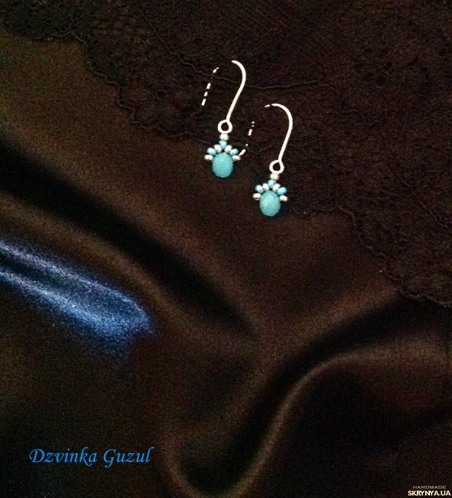 pictured here Earrings silver jewelry handmade svarovski crystals topaz garnet coral gift