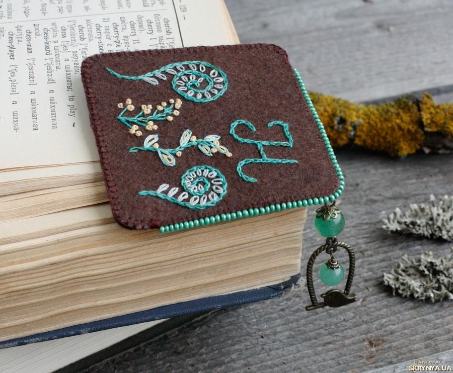 тут изображено Именная закладка для книг уголок с нефритом Подарок для девушки