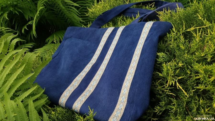 pictured here A denim eco-friendly  shopper bag
