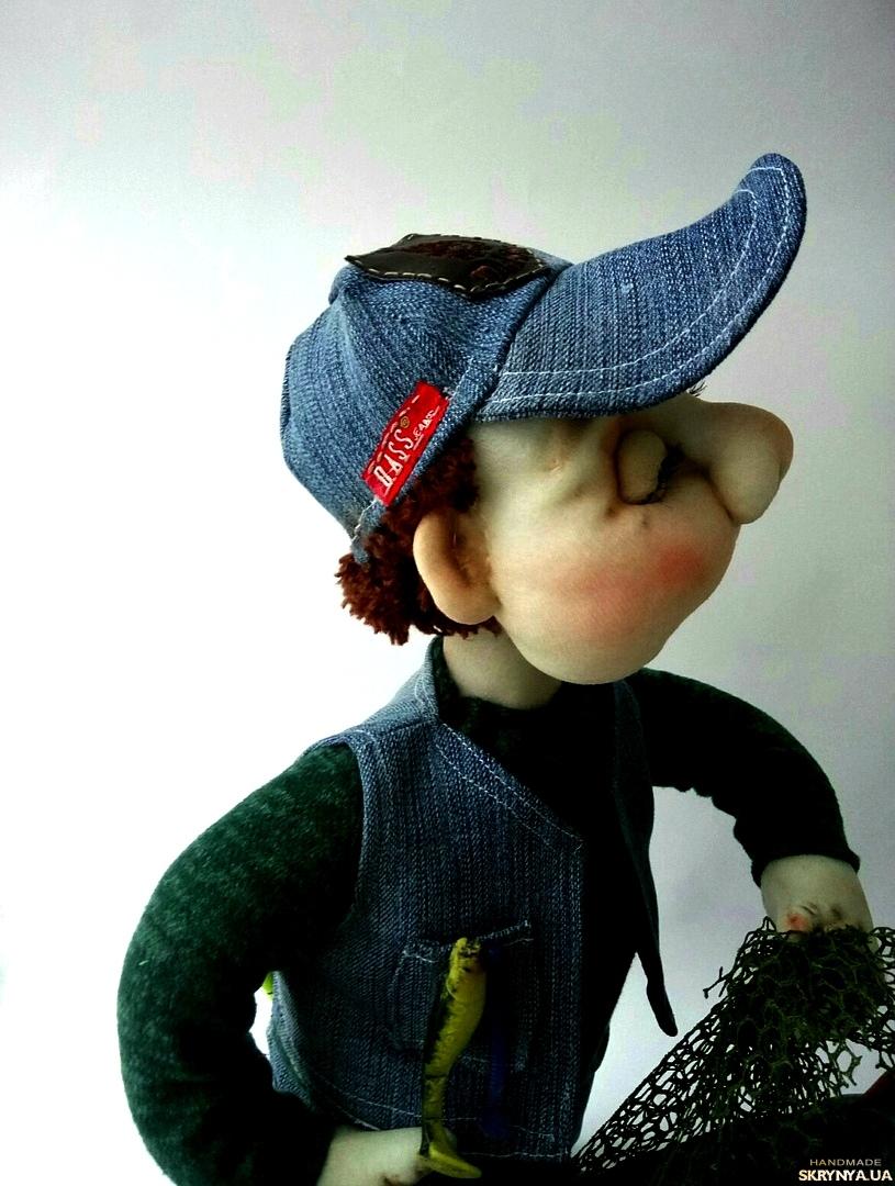 pictured here  Кукла рыбак подарок мужчине. Подарок мужу, рыбаку. Подарунок чоловікові
