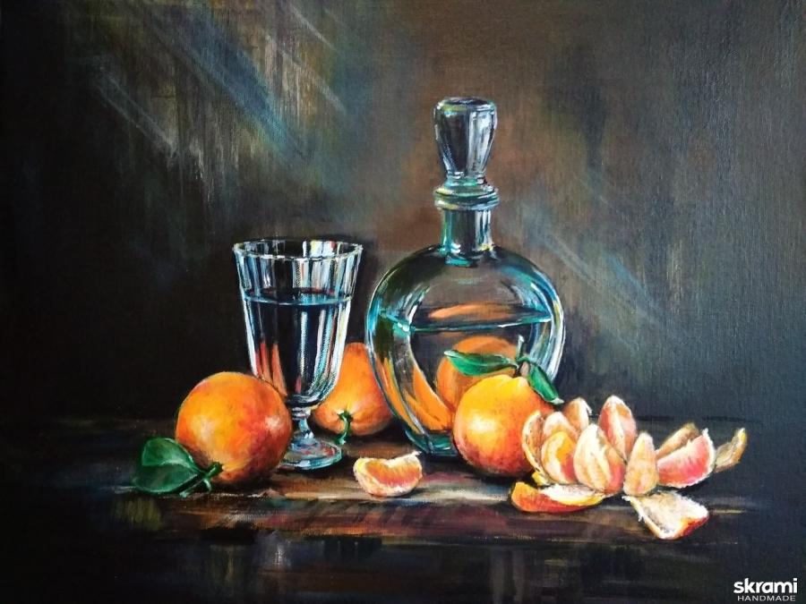 тут изображено ′Апельсиновый натюрморт′